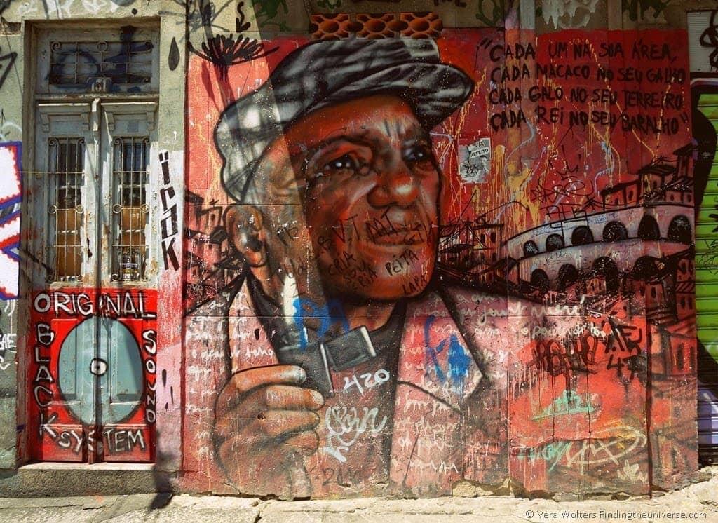 Man in front of Aqueduct - Lapa, Rio de Janeiro, Brasil