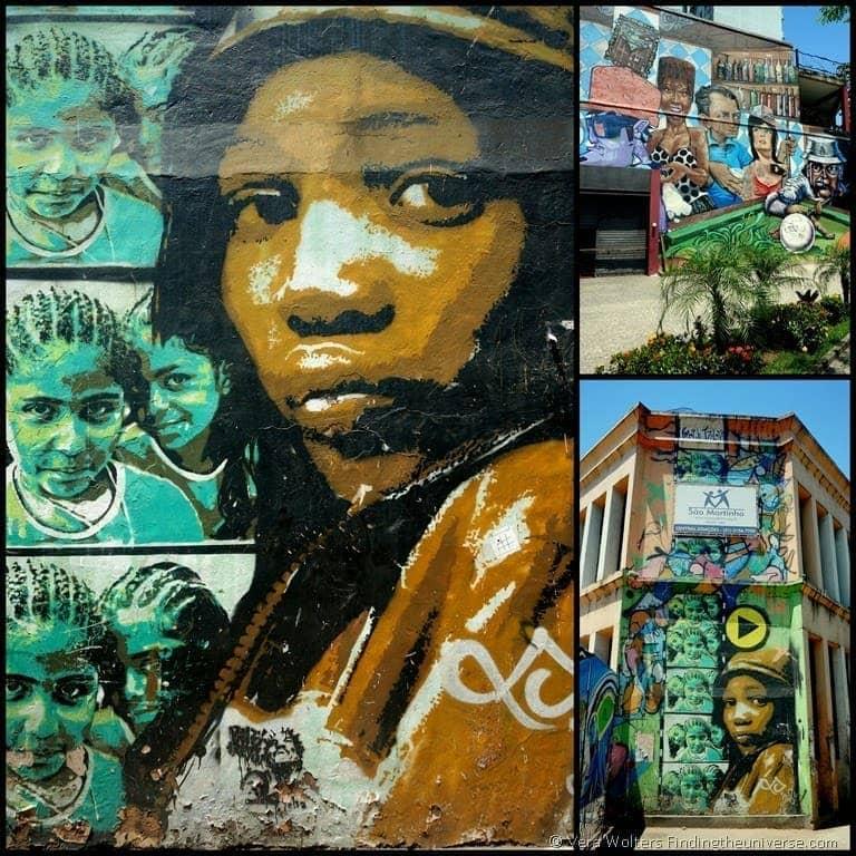Street art house fronts - Rio de Janeiro, Brasil