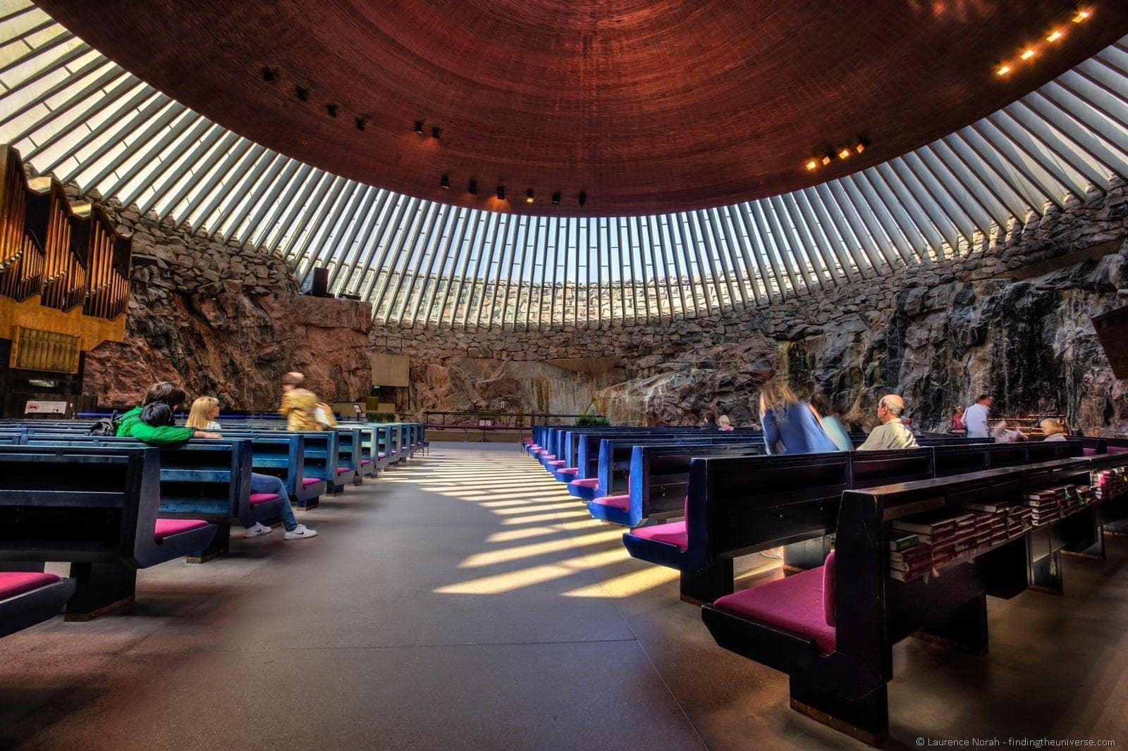 1 day in Helsinki - Temppeliaukio Church of the rock Helsinki finland interior