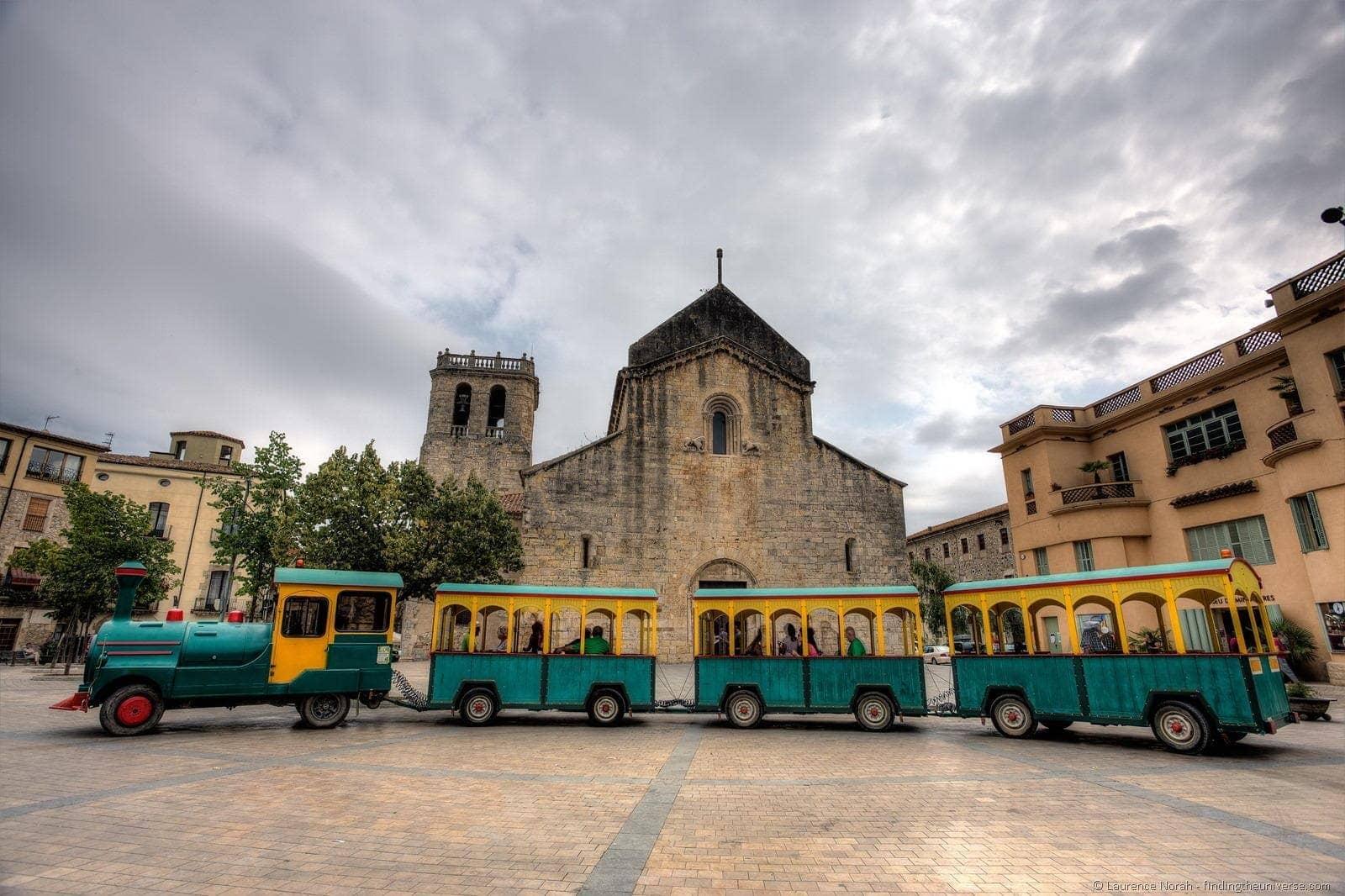 Tourist Train Besalu Monastery Sant Pere