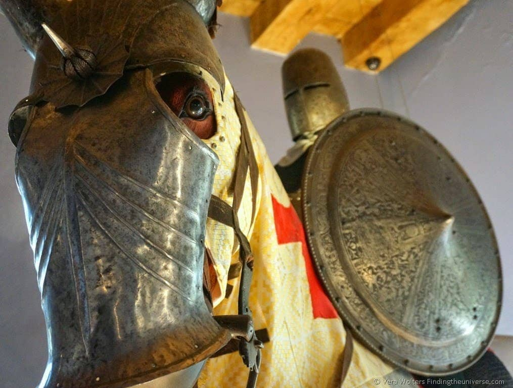 Armor at Château Belcastel, Aveyron, France