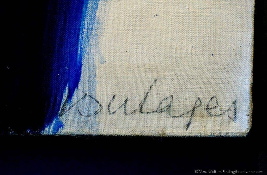 Signature Pierre Soulages, Museum, Rodez, France
