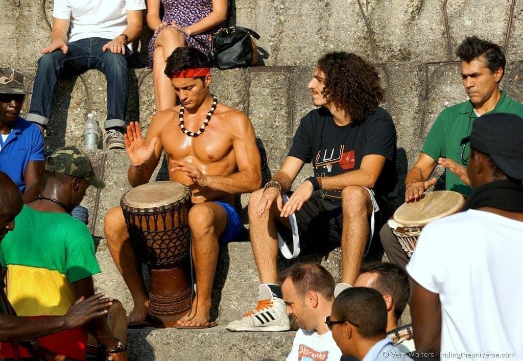 Week-end Drumming in Sempione Park, Milan, Italy