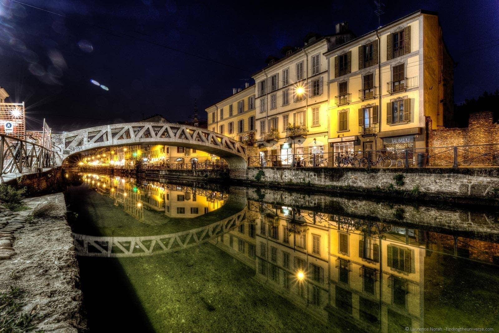 Milan canal night 1