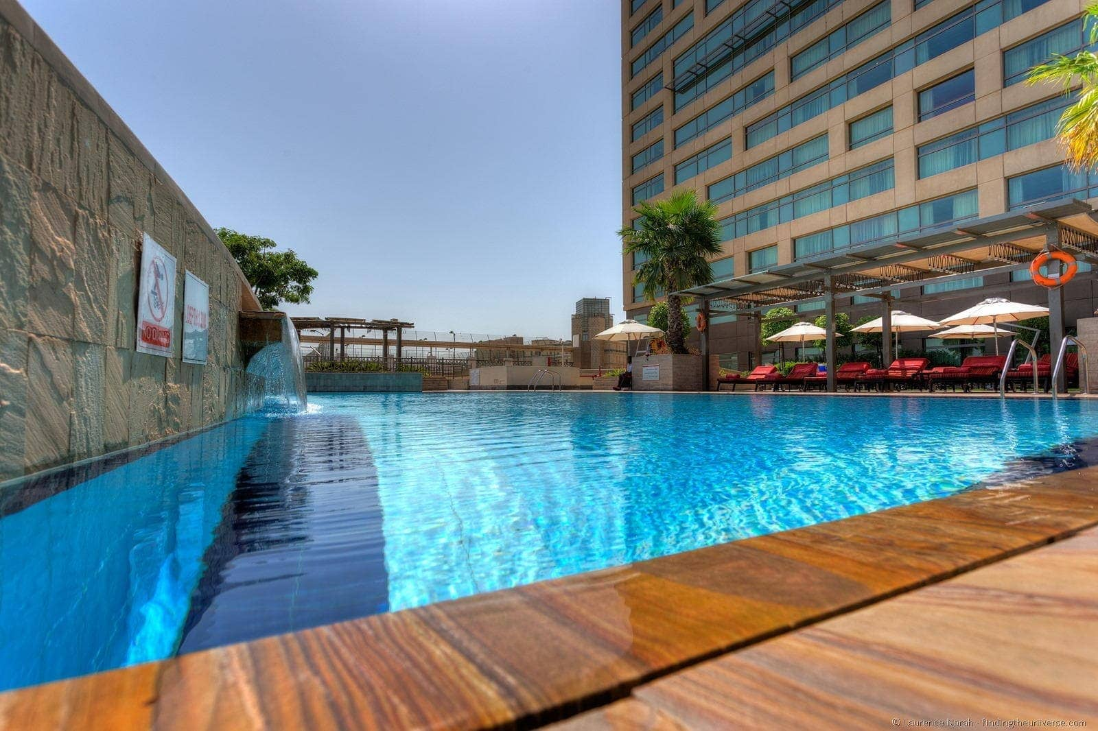 Rotana pool low angle daytime