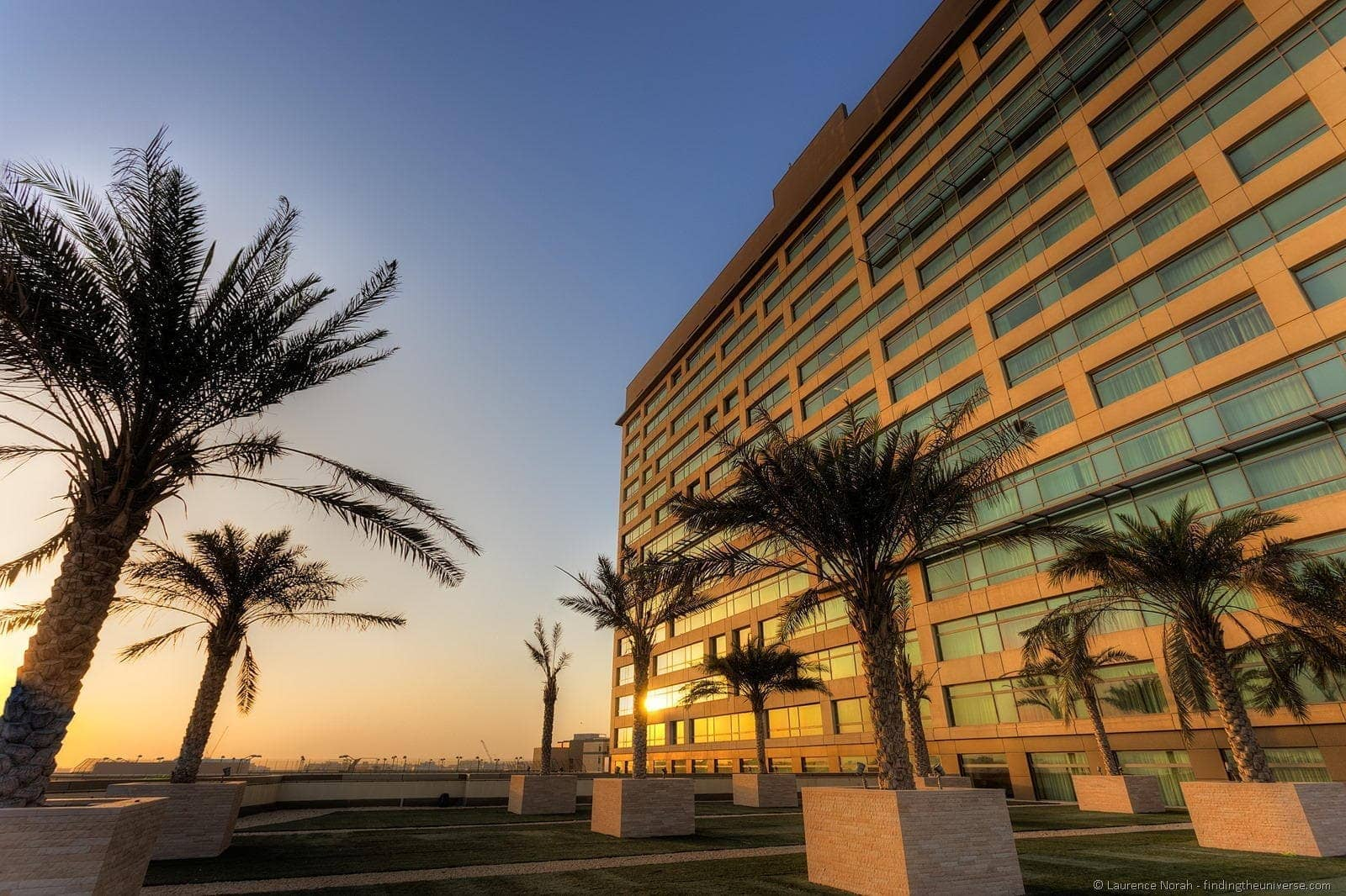 Sunrise outside Rotana