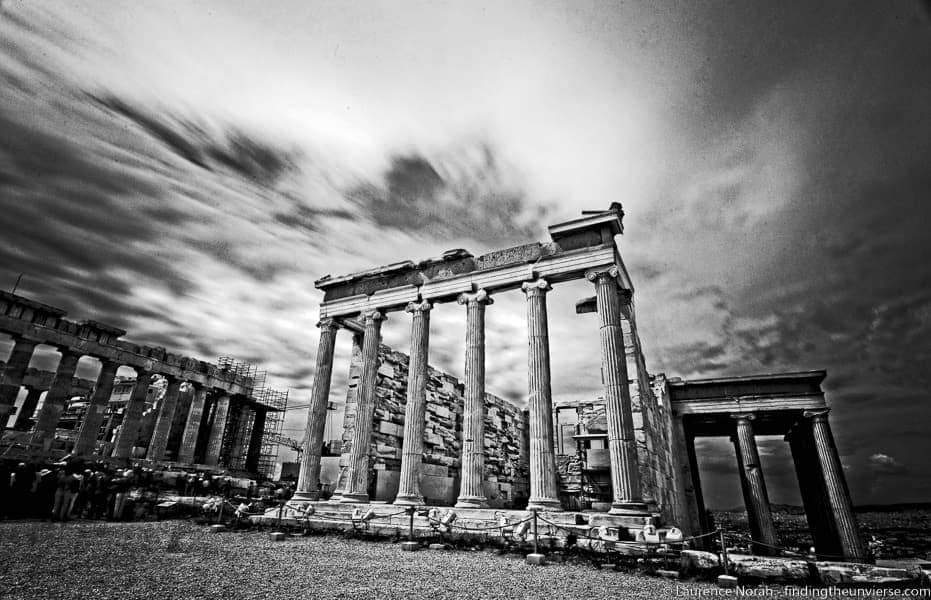 Acropolis black and white Greece[4]