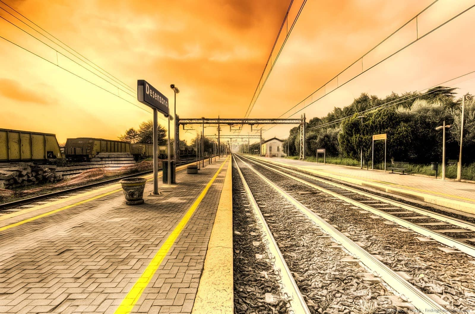 Desenzano train station Italy