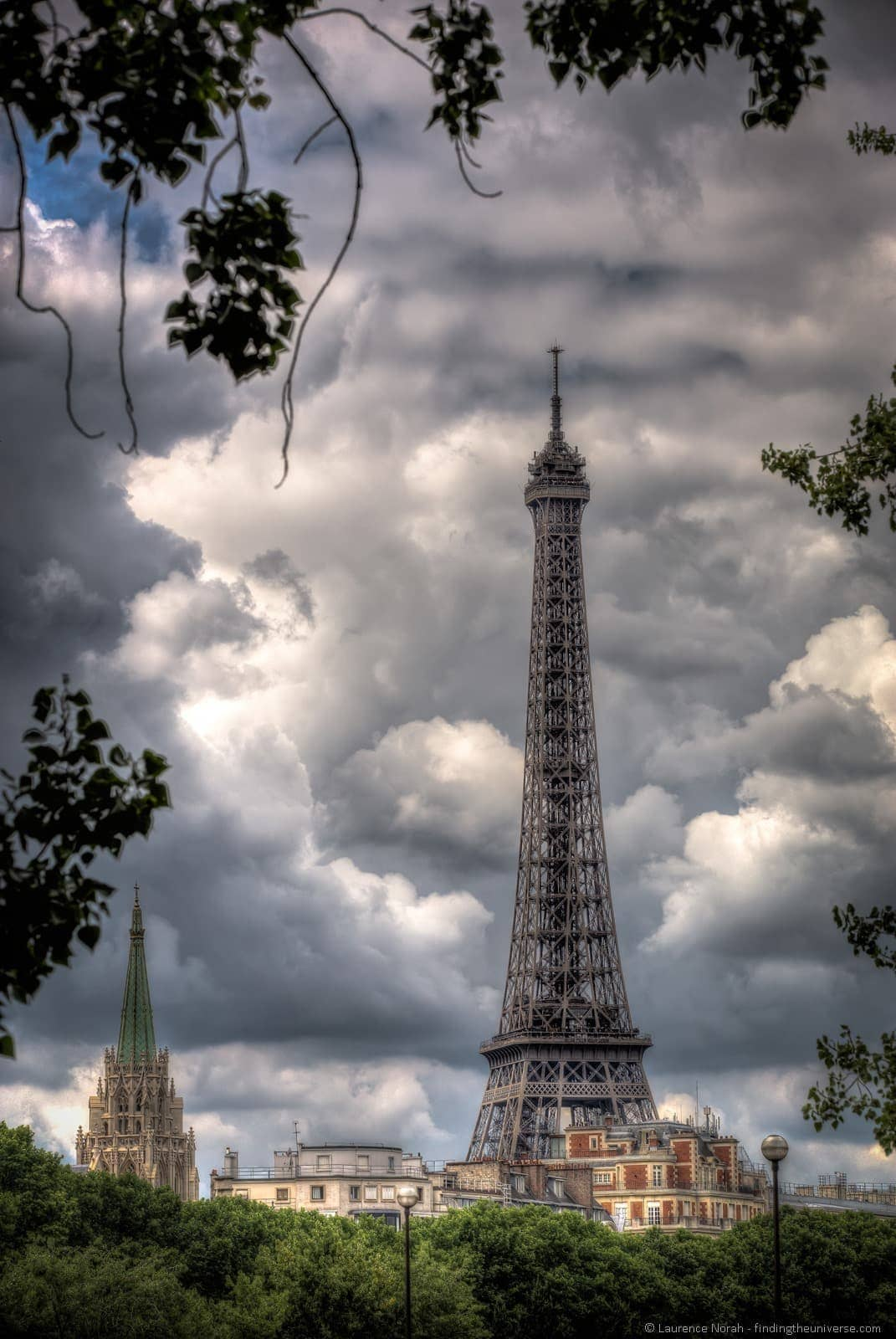 Eiffel tower Paris portrait HDR