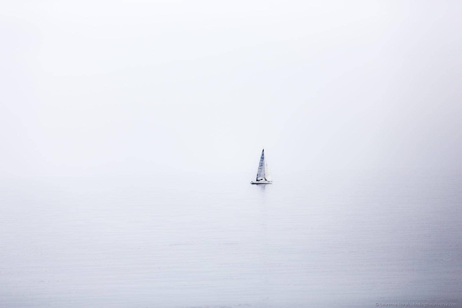 Sailboat on Lake Garda Italy