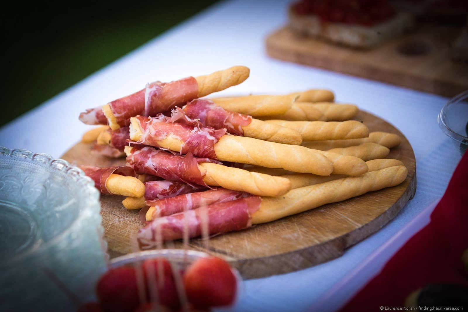 ham wrapped bread sticks le marche italy