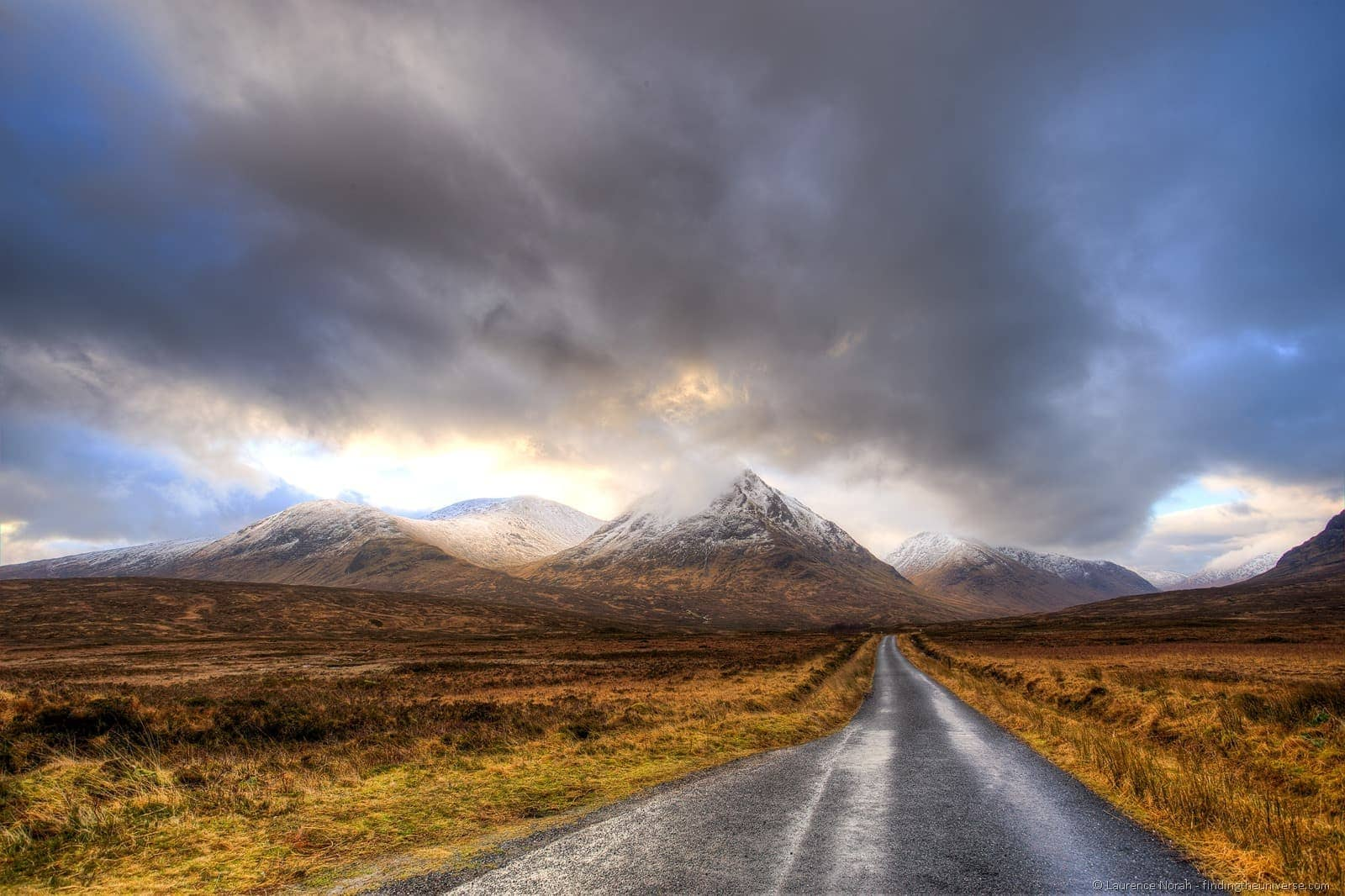 Glencoe road mountains scotland highlands