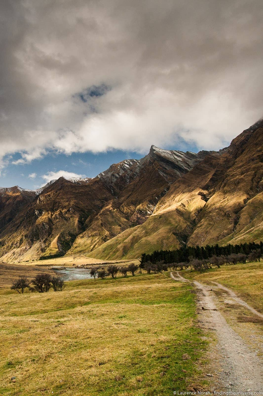 New Zealand mountains colours