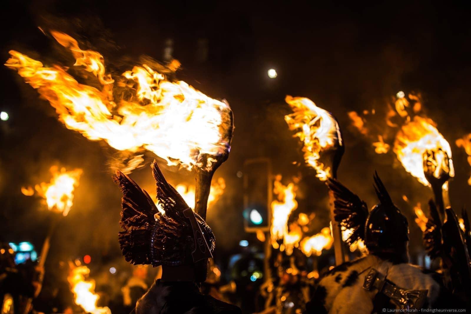 Viking torchlight procession Edinburgh Hogmanay