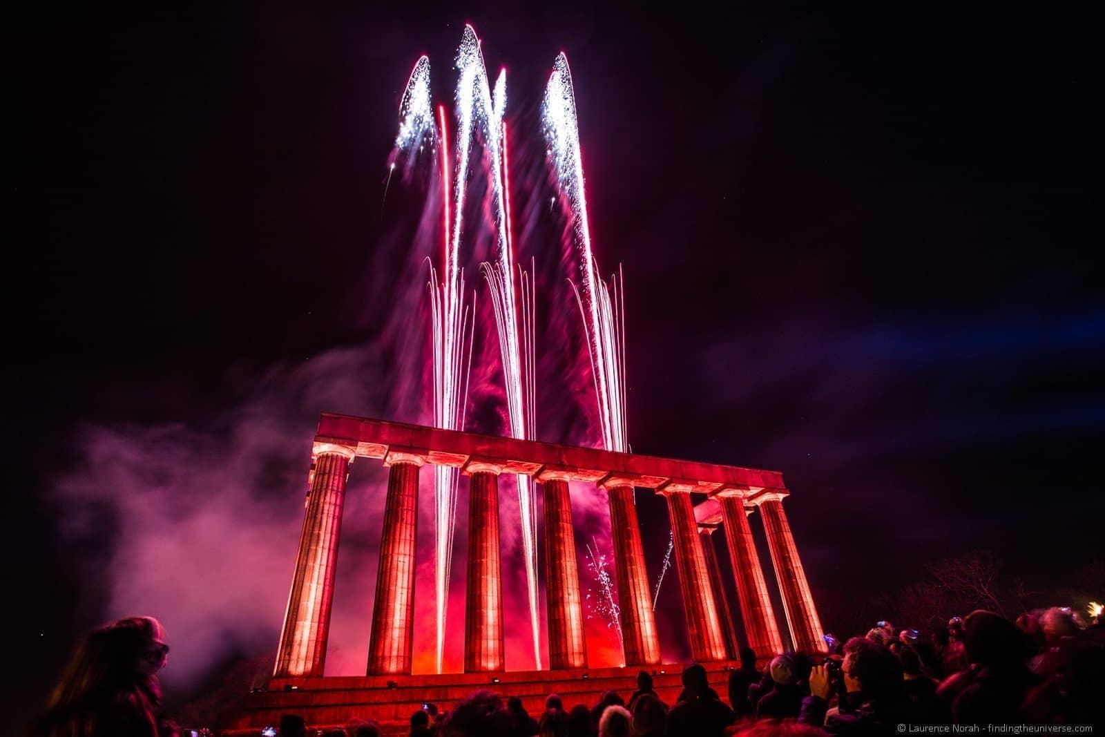 fireworks hogmanay calton hill edinburgh