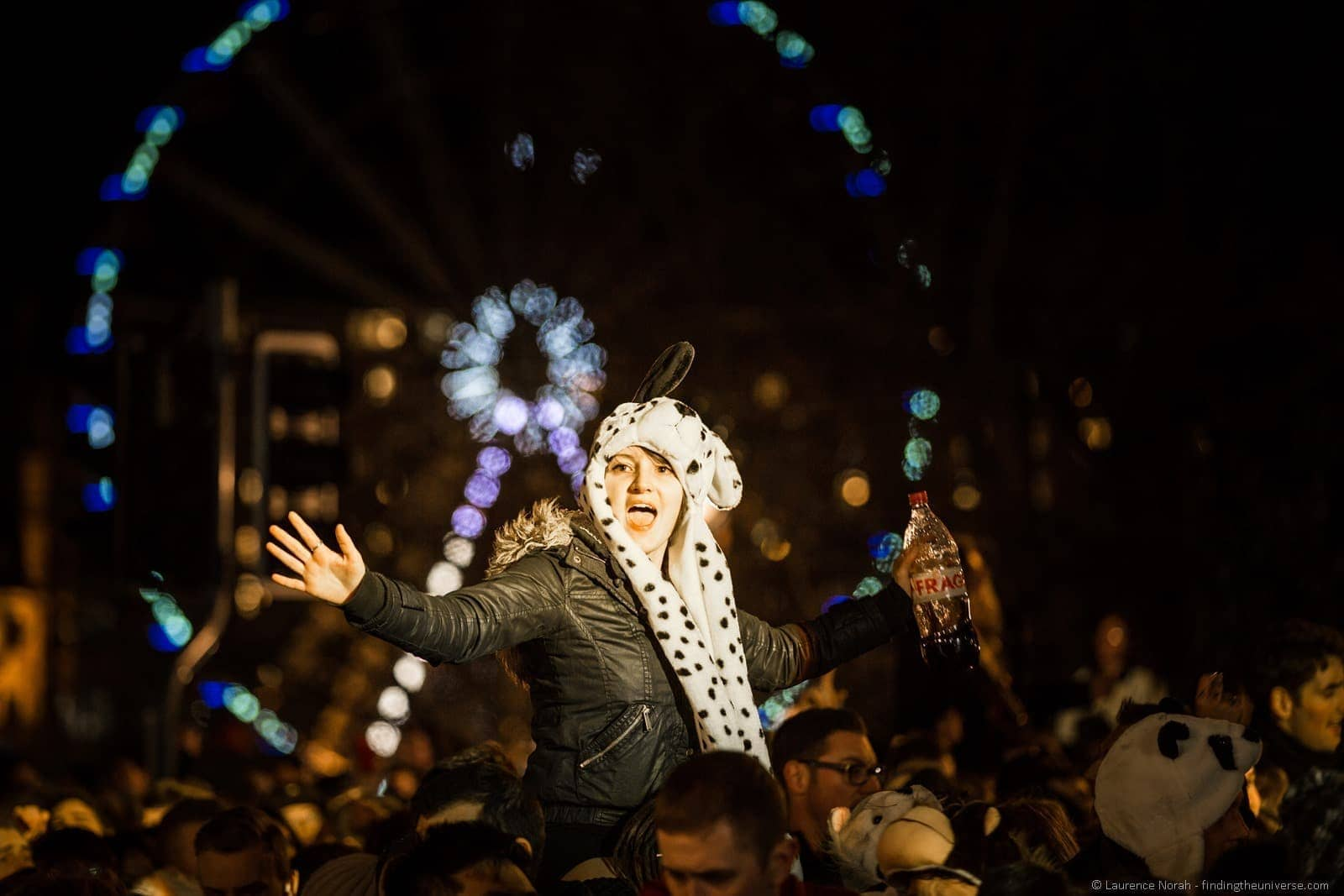 new years eve reveller hogmanay edinburgh 2014