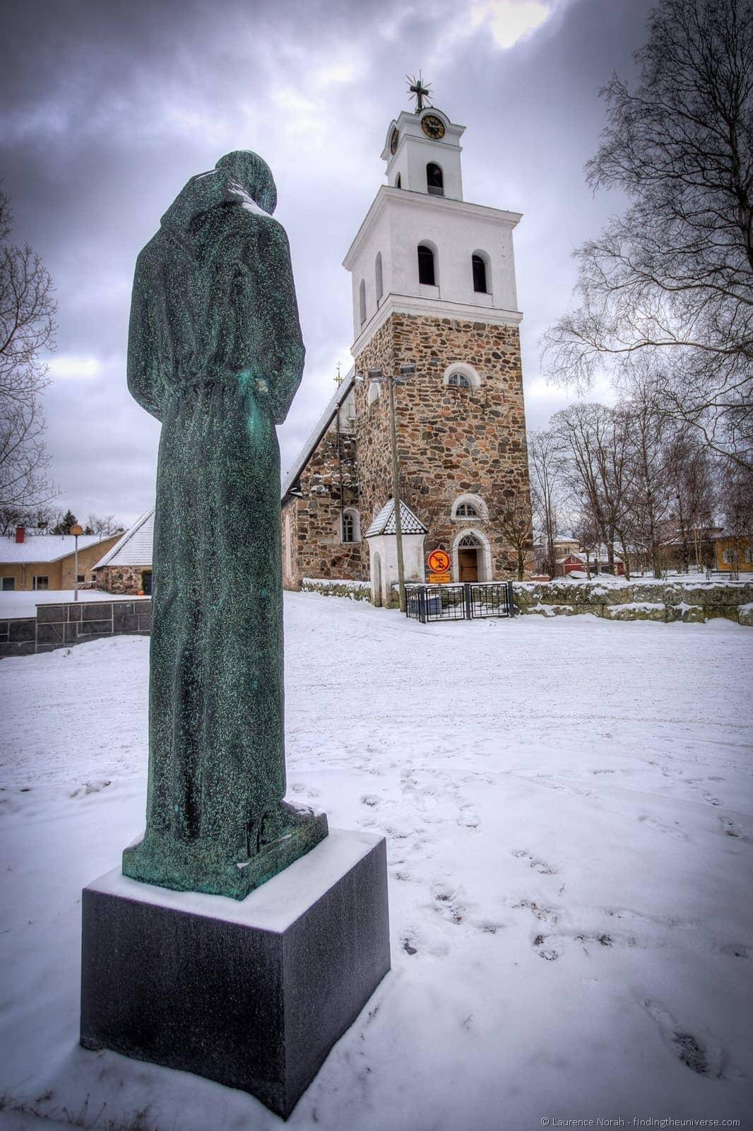 church statue rauma