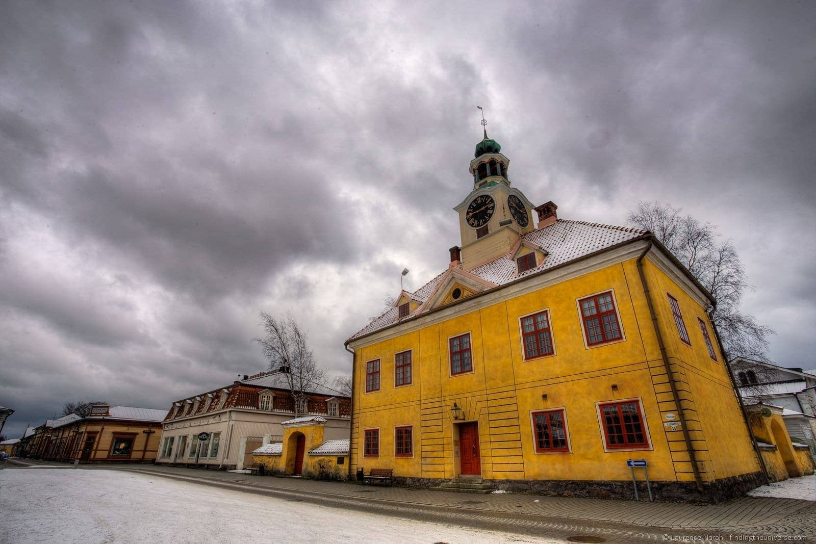rauma old town hall and museum market square