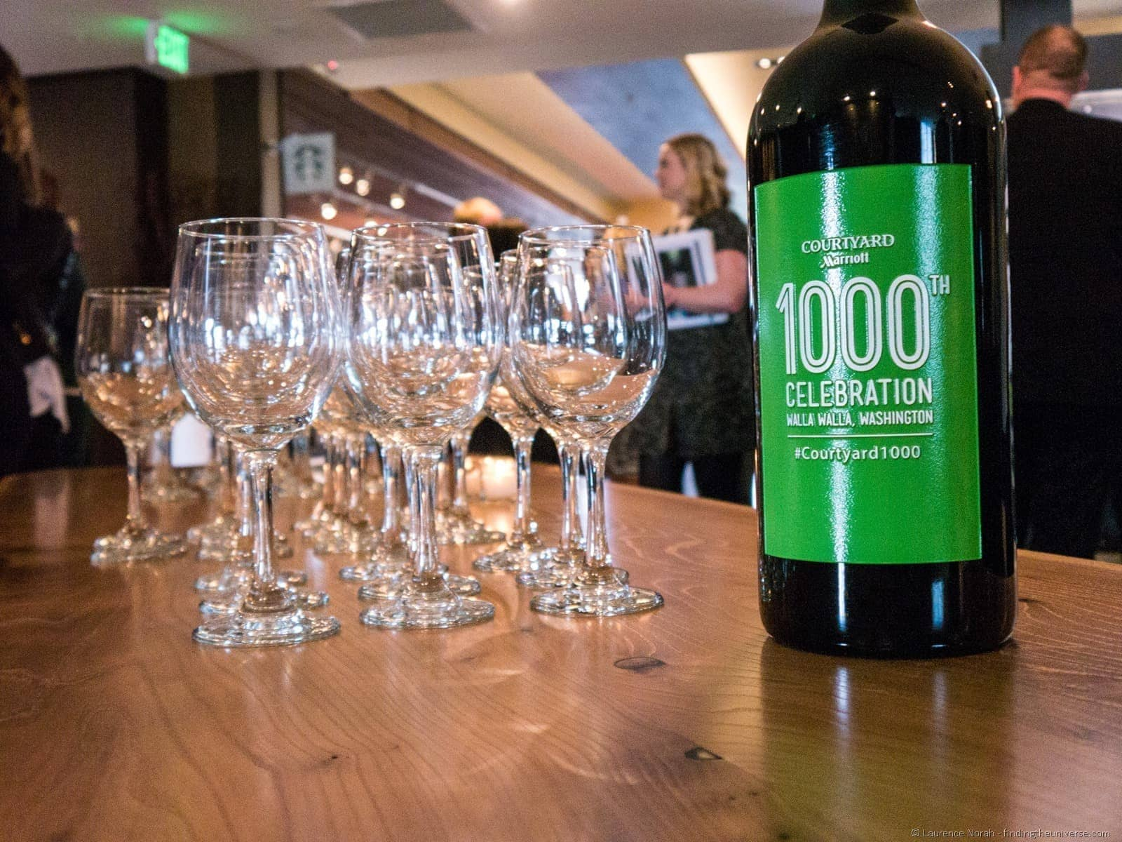 1000th marriott celebration wine