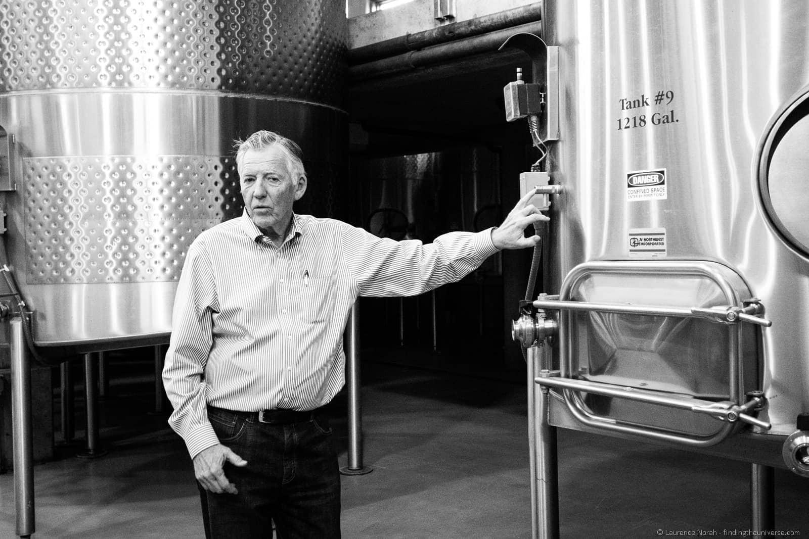 Norm McKibben Pepperbridge Winery tour Walla Walla