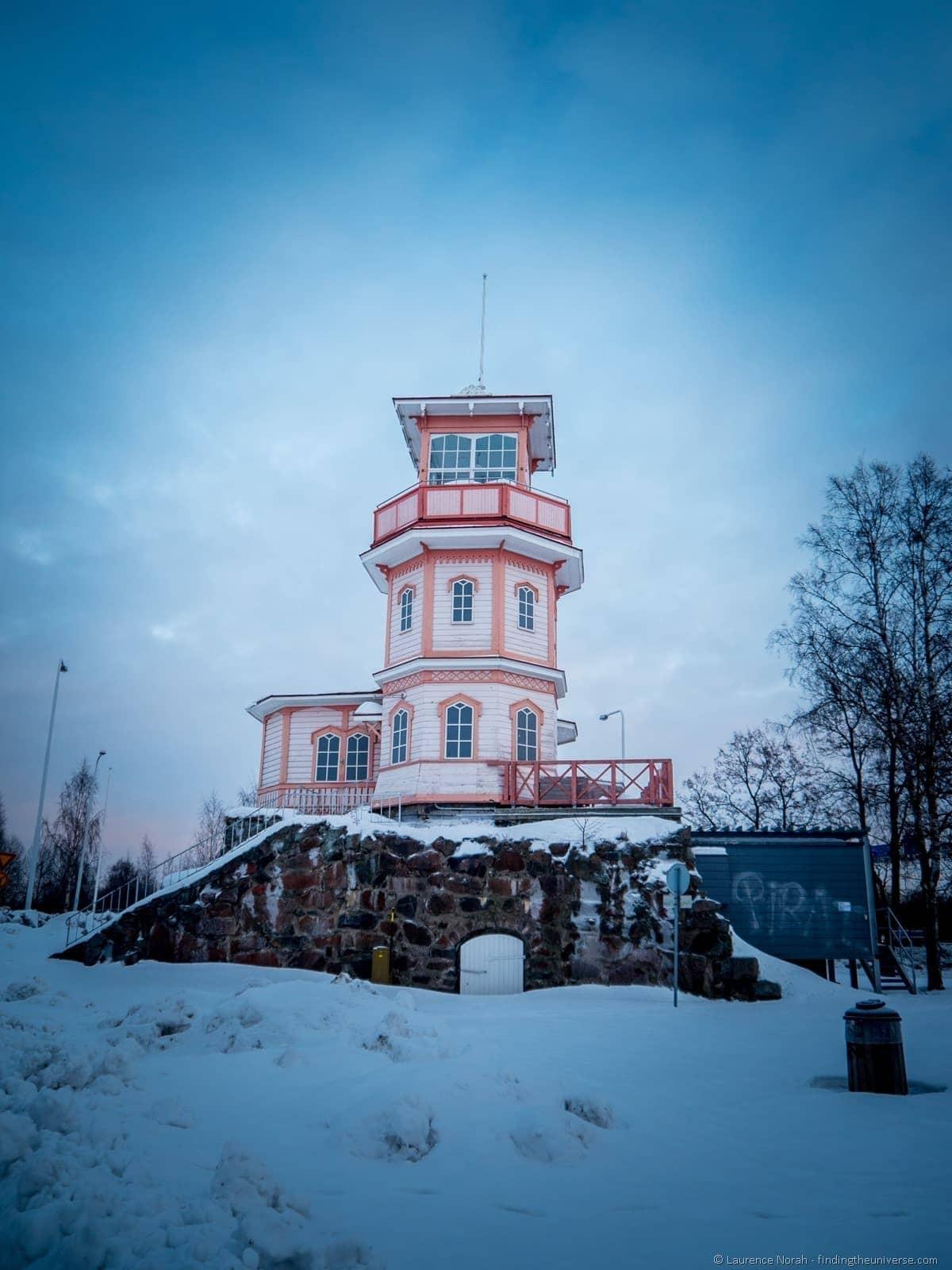 Old observatory Oulu Linnansaari park finland