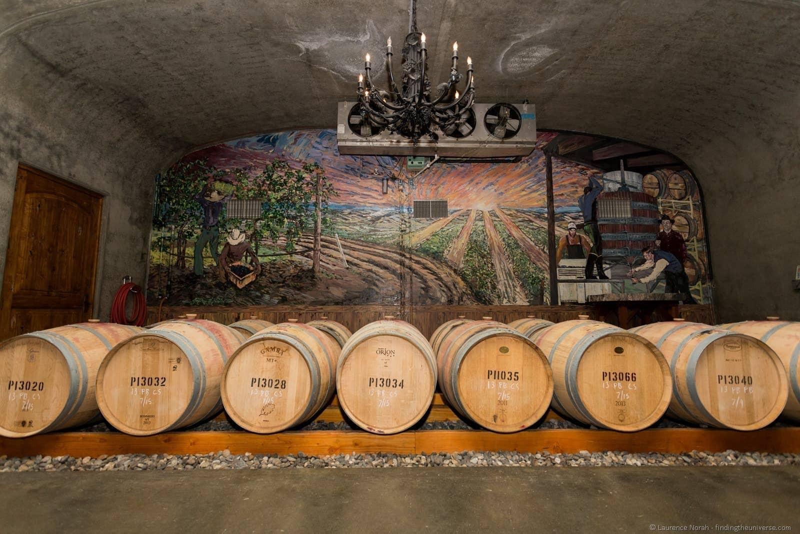 Pepperbridge Winery Cellars barrels Walla Walla