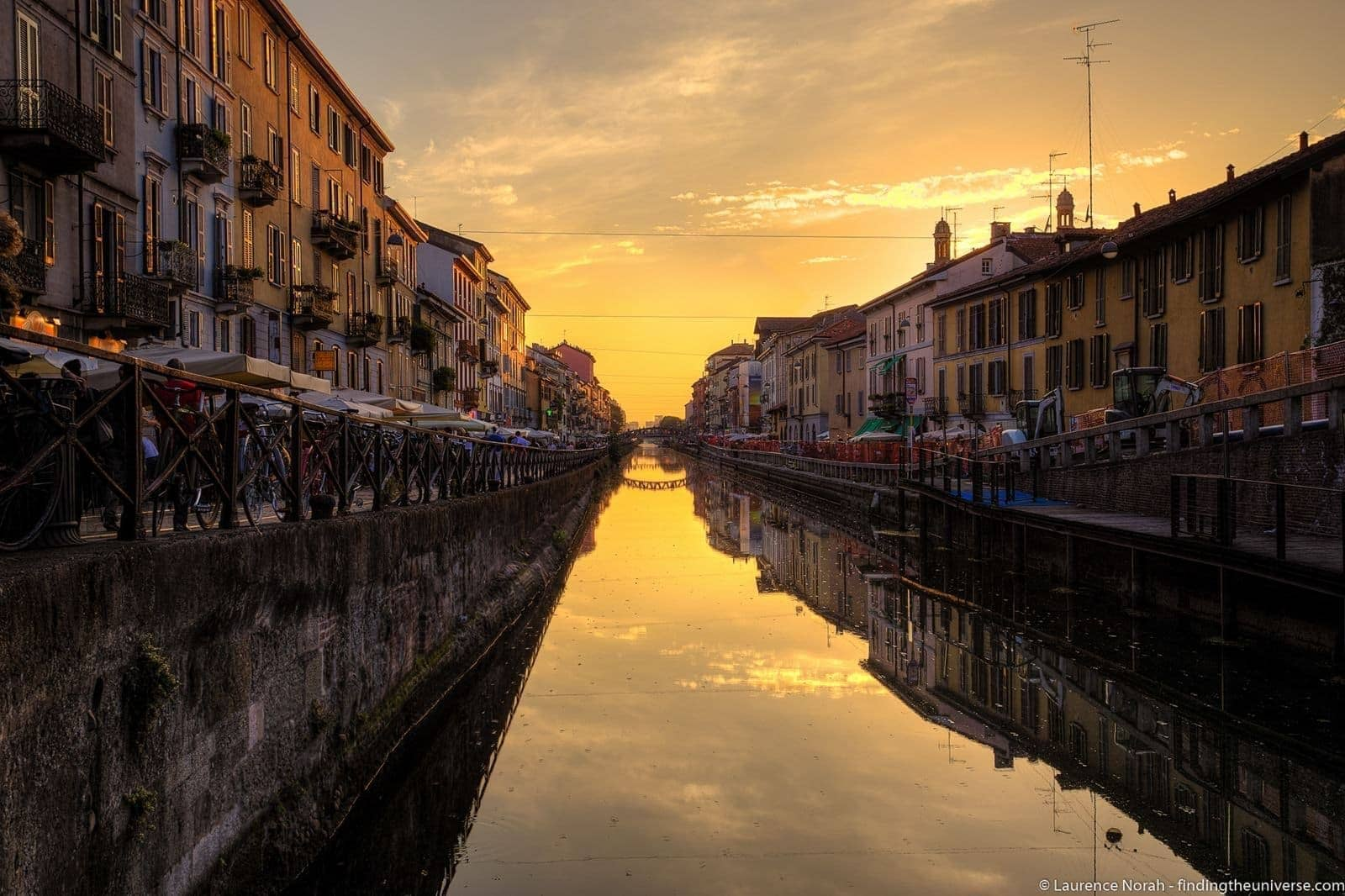 Sunset Milan Canals - scaled
