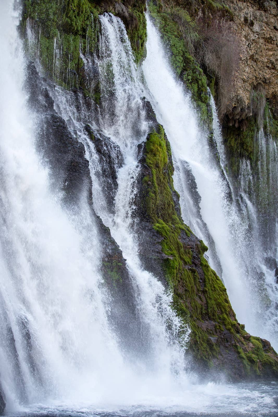 Burney falls shasta cascade california close up