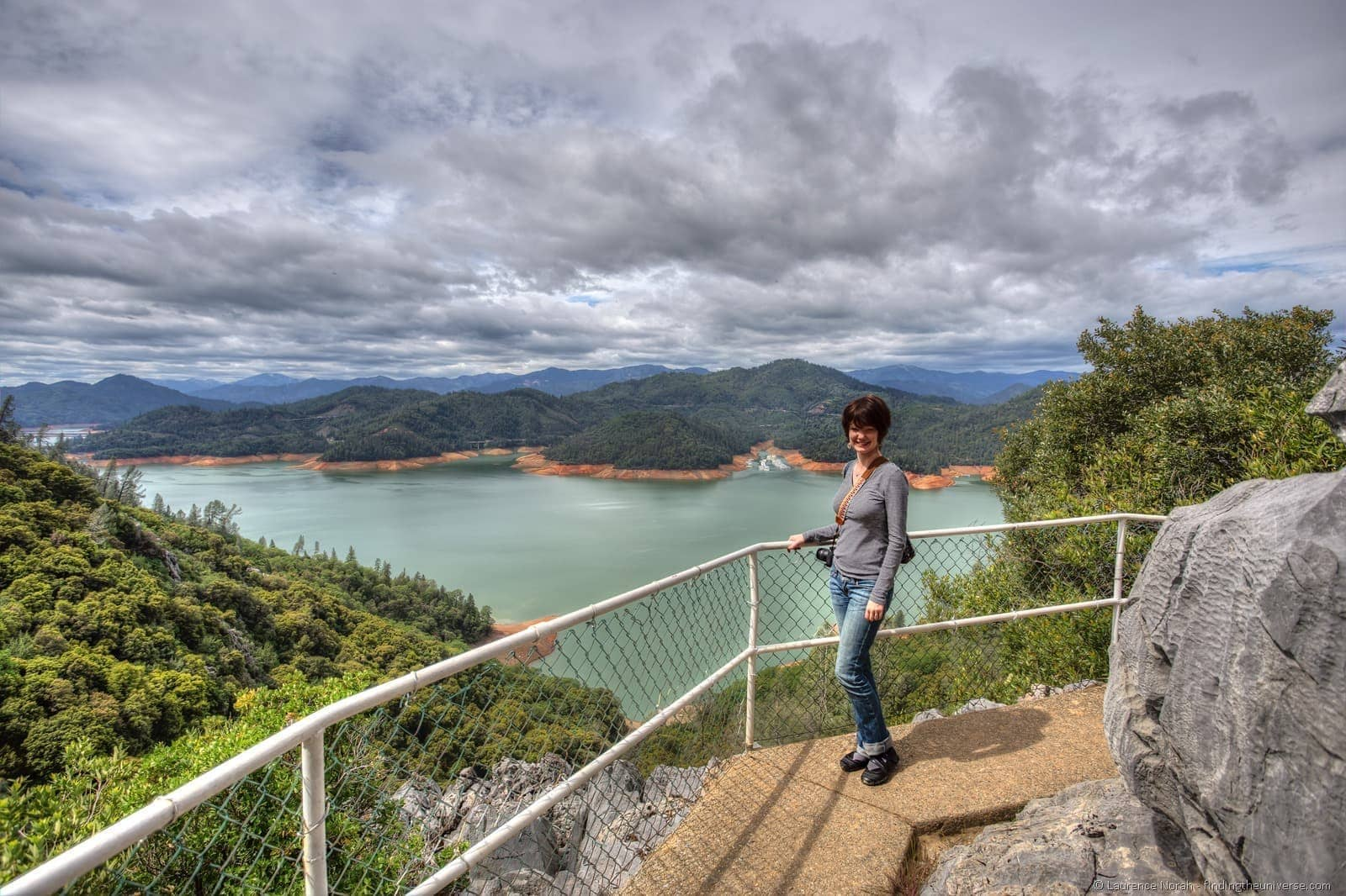 Jess above Shasta Lake, Redding, California