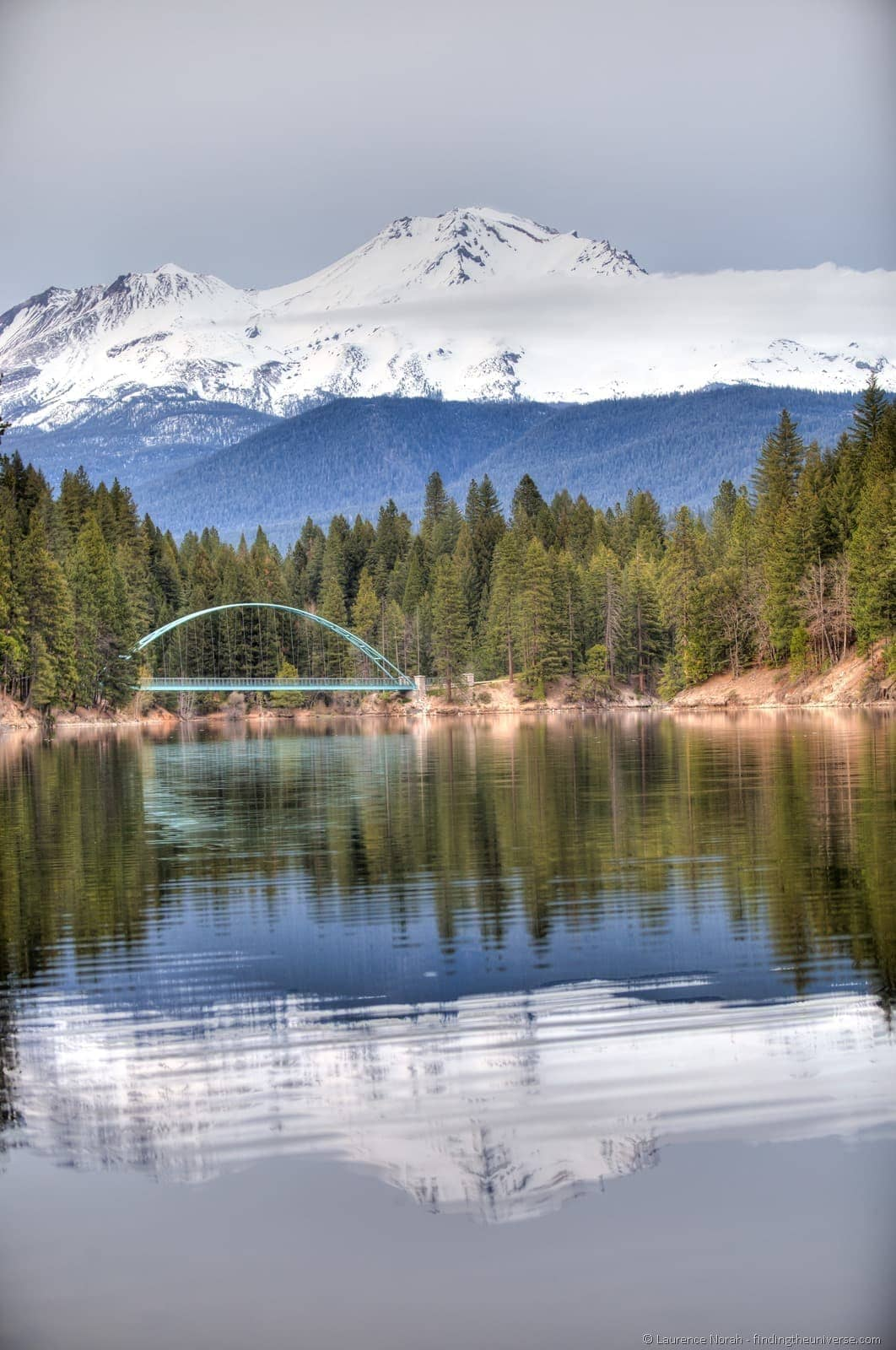 Mount Shasta reflected in Lake