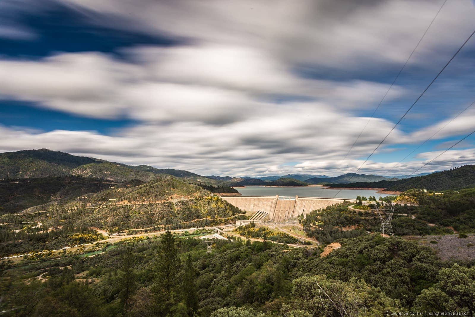 Shasta Dam long exposure