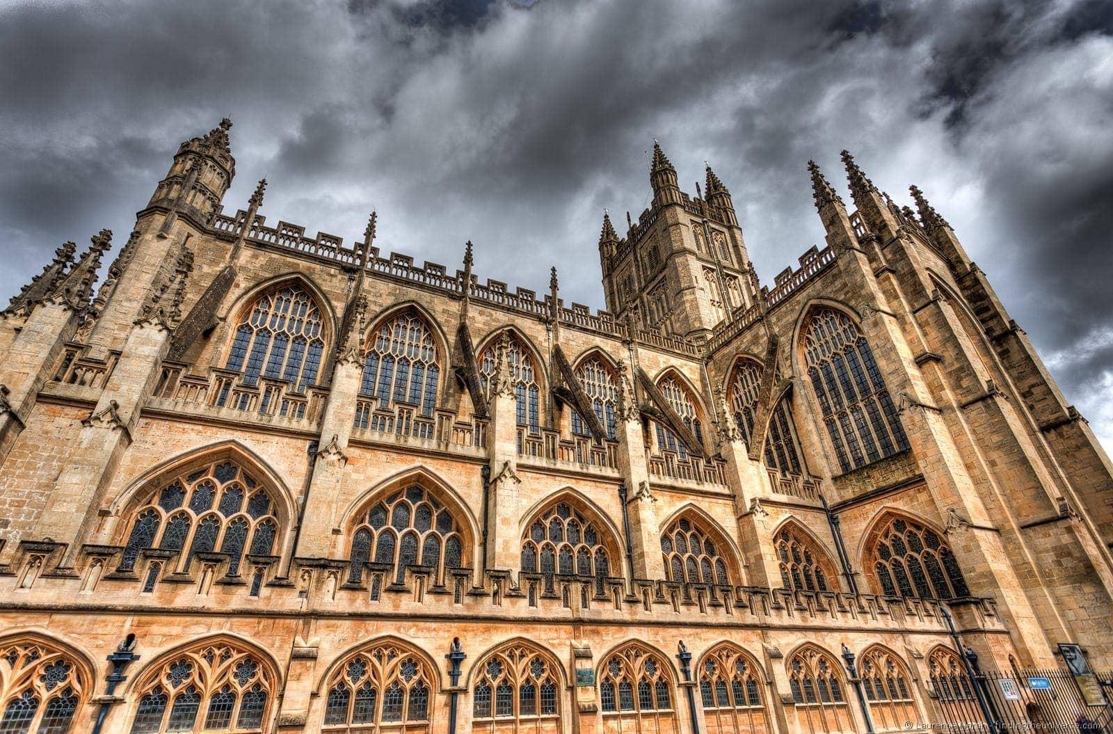 Bath Cathedral dramatic
