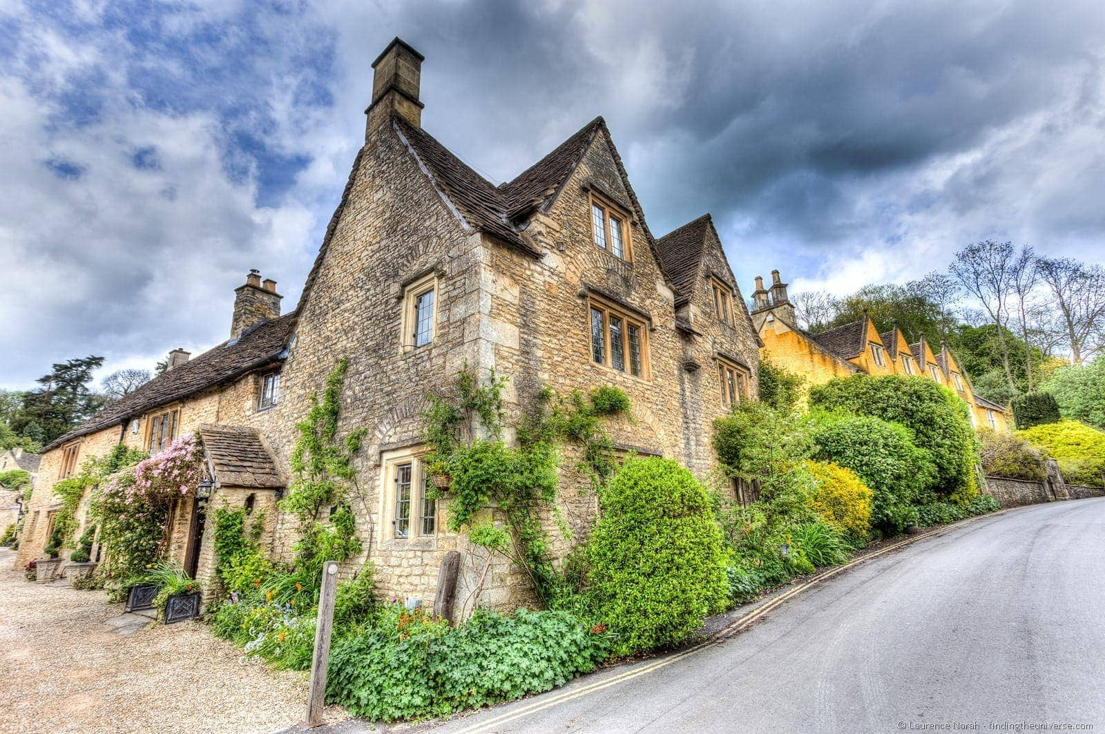 Cotswold village Castle Combe house