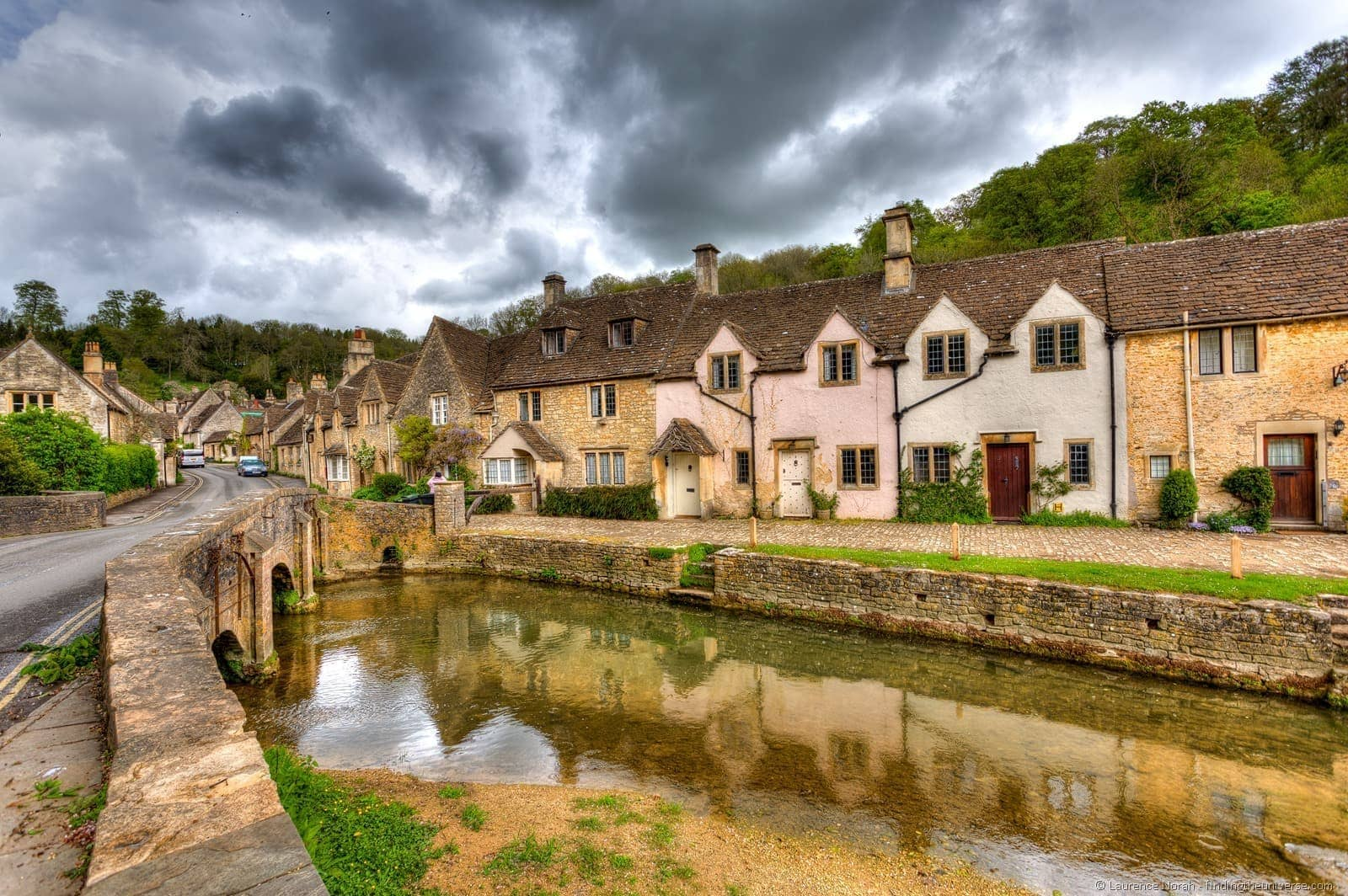 Cotswold village Castle Combe river