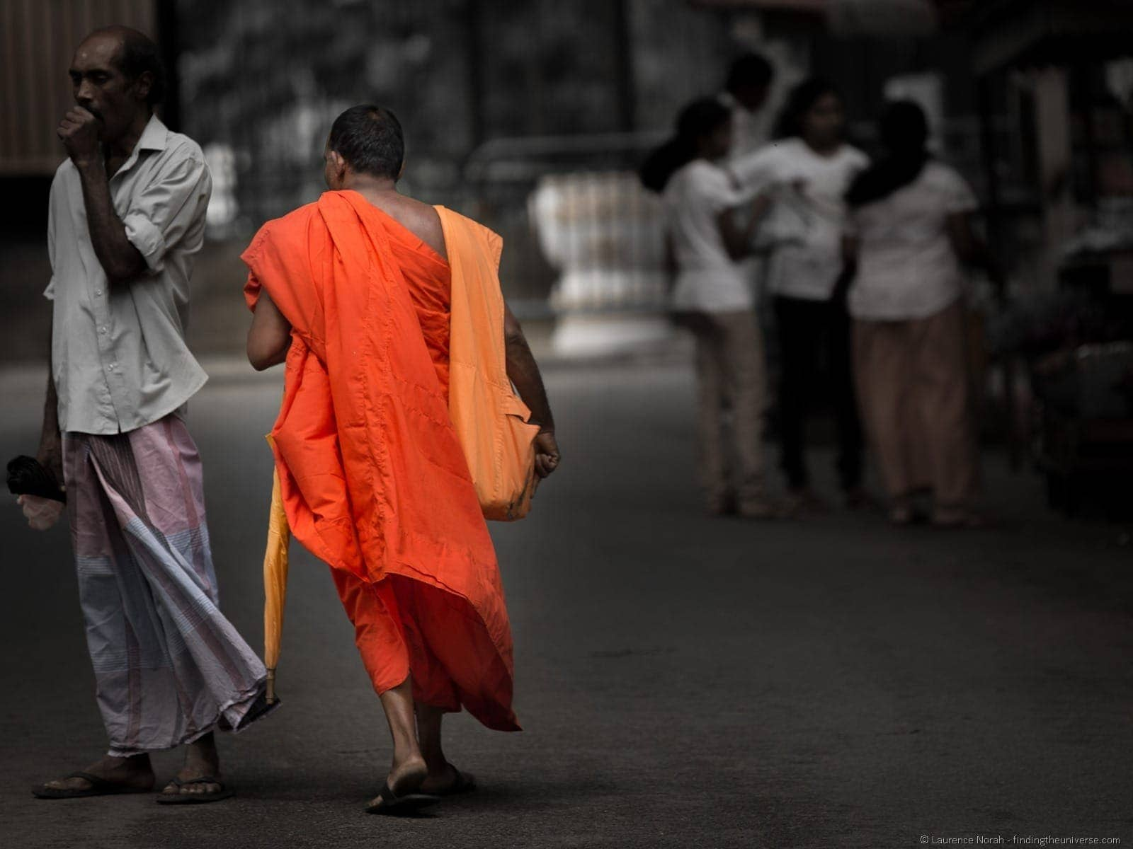 Monk walking Sri Lanka