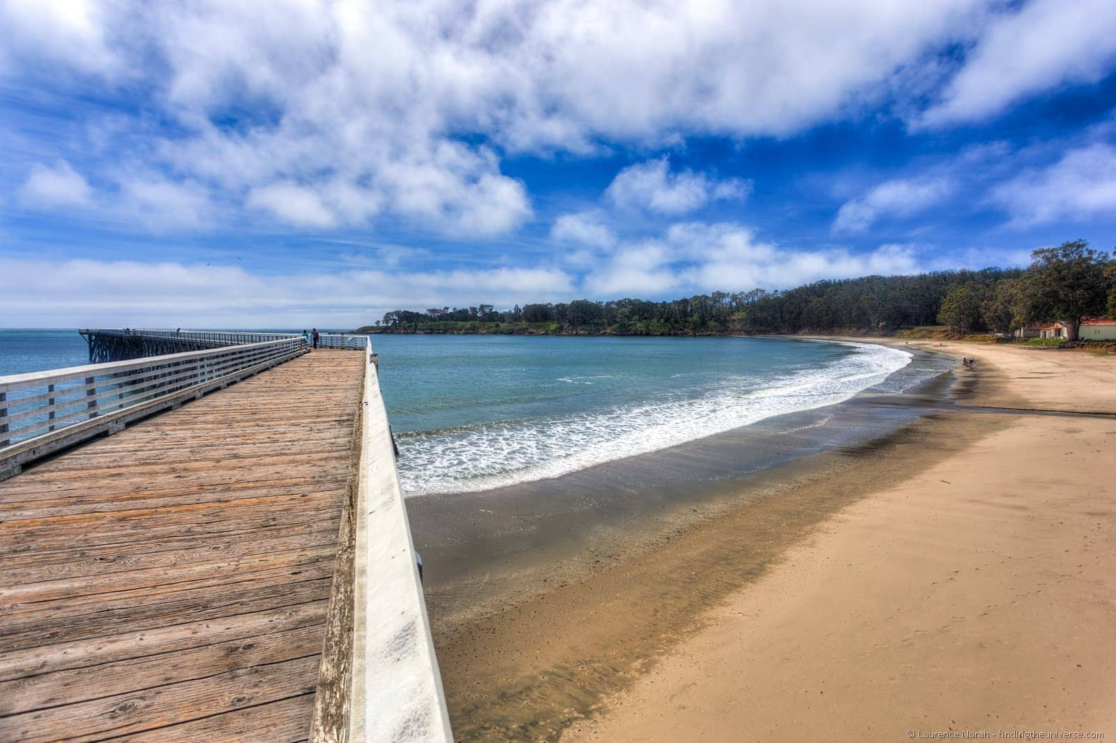San Simeon Pier Cambria California beach sky
