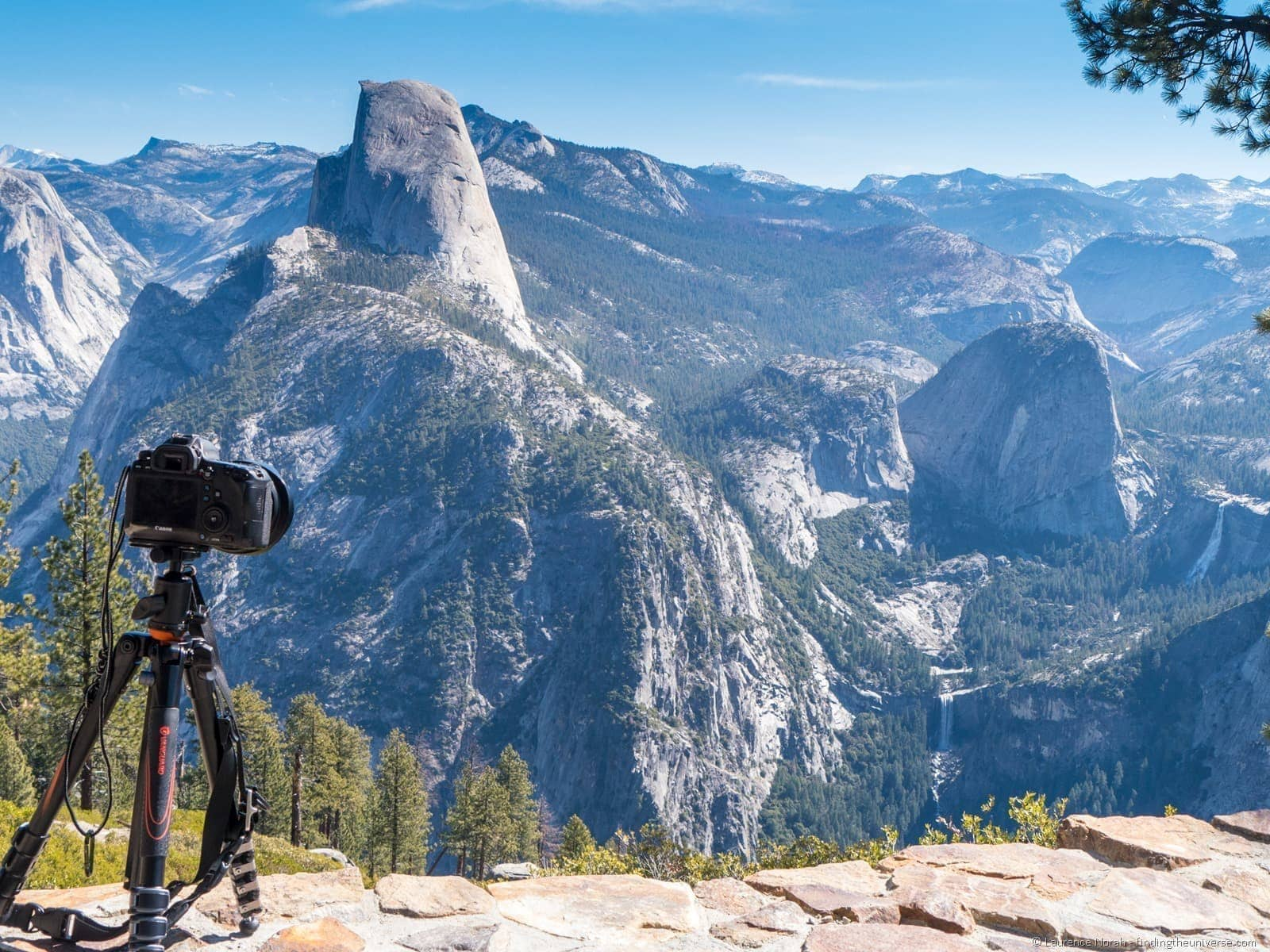 Vanguard tripod from Glacier point