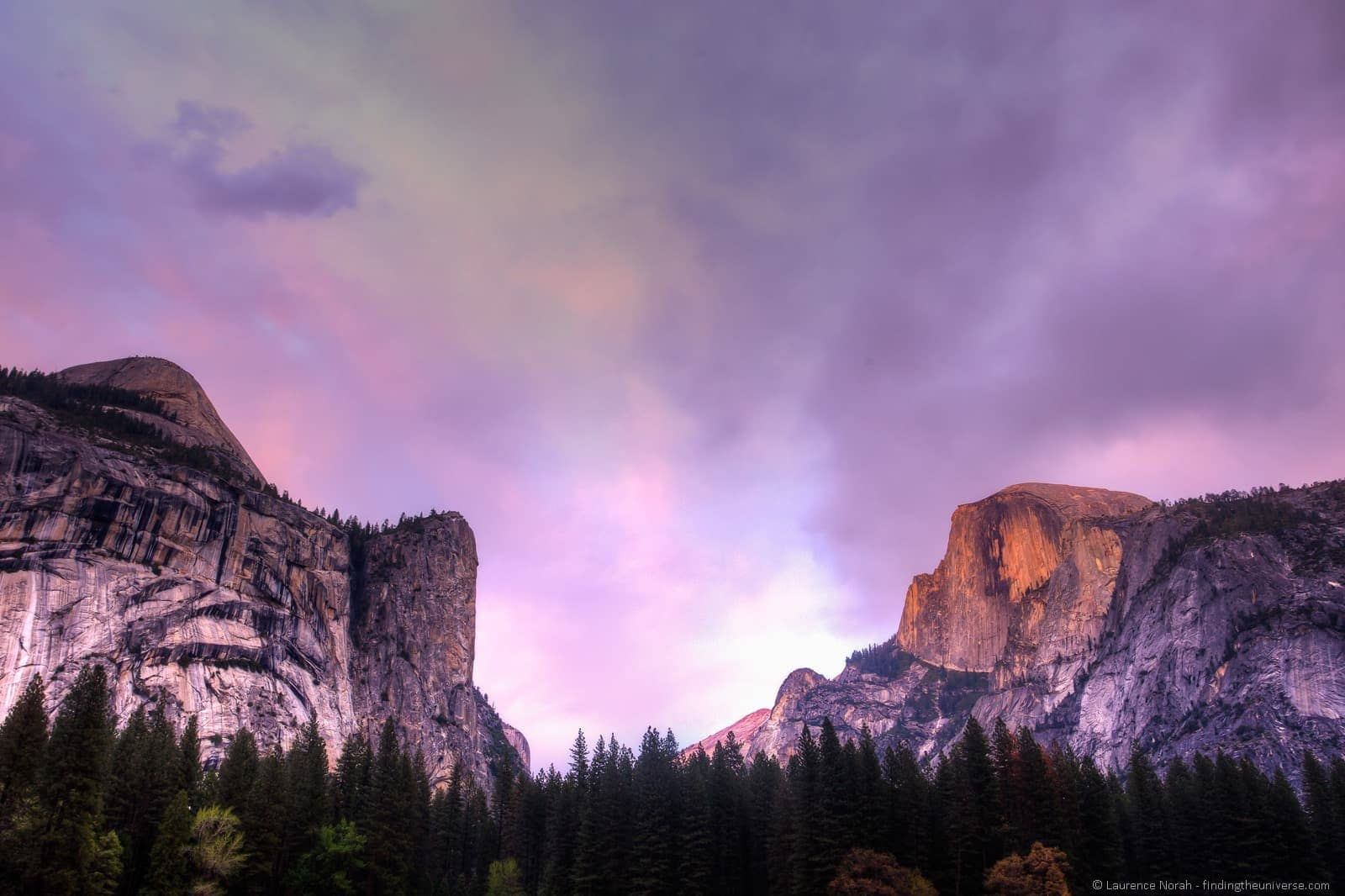 Yosemite sunset half dome