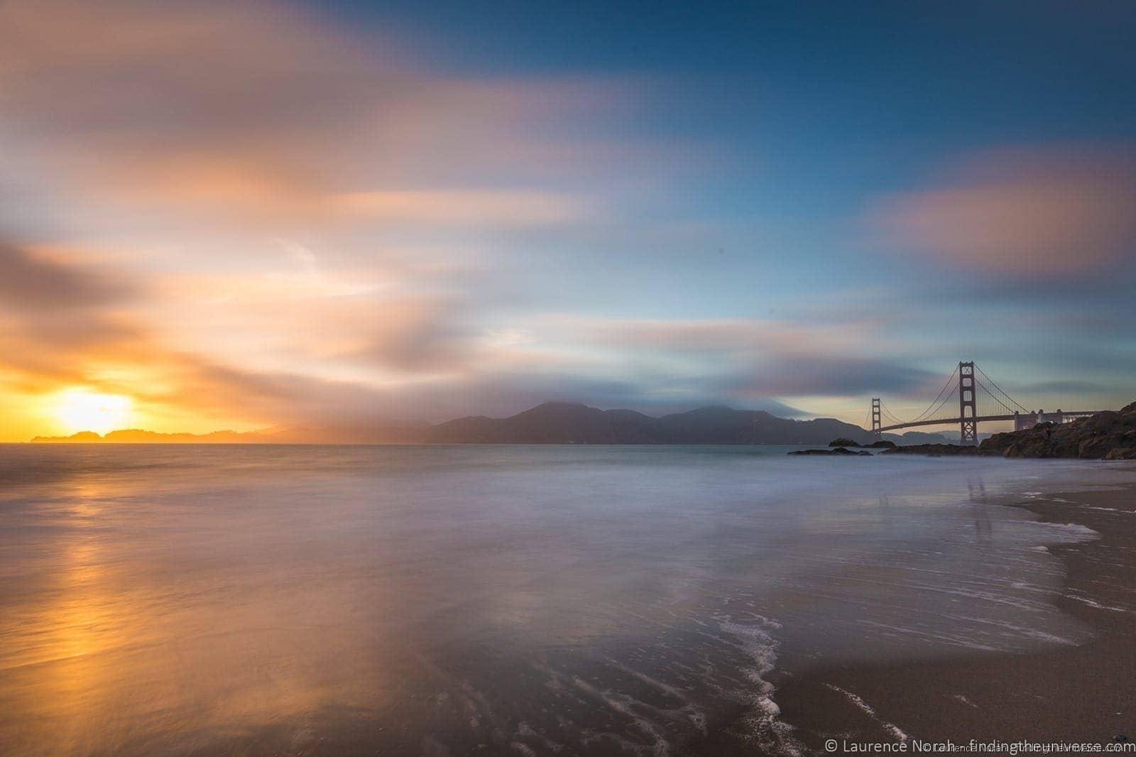 Sunset San Francisco Golden Gate Bridge