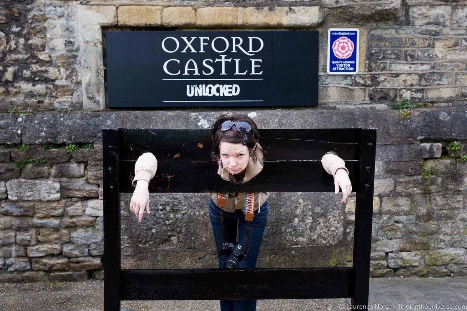 Oxford Castle Stocks