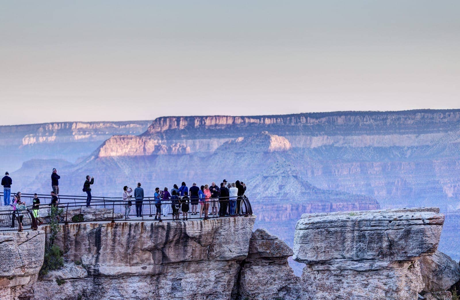 People at mather point sunrise