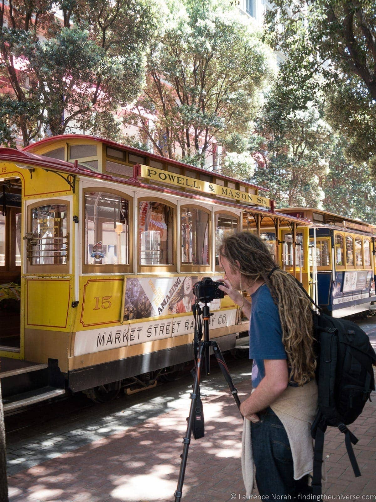 Photographing Trams on Powell Street San Francisco
