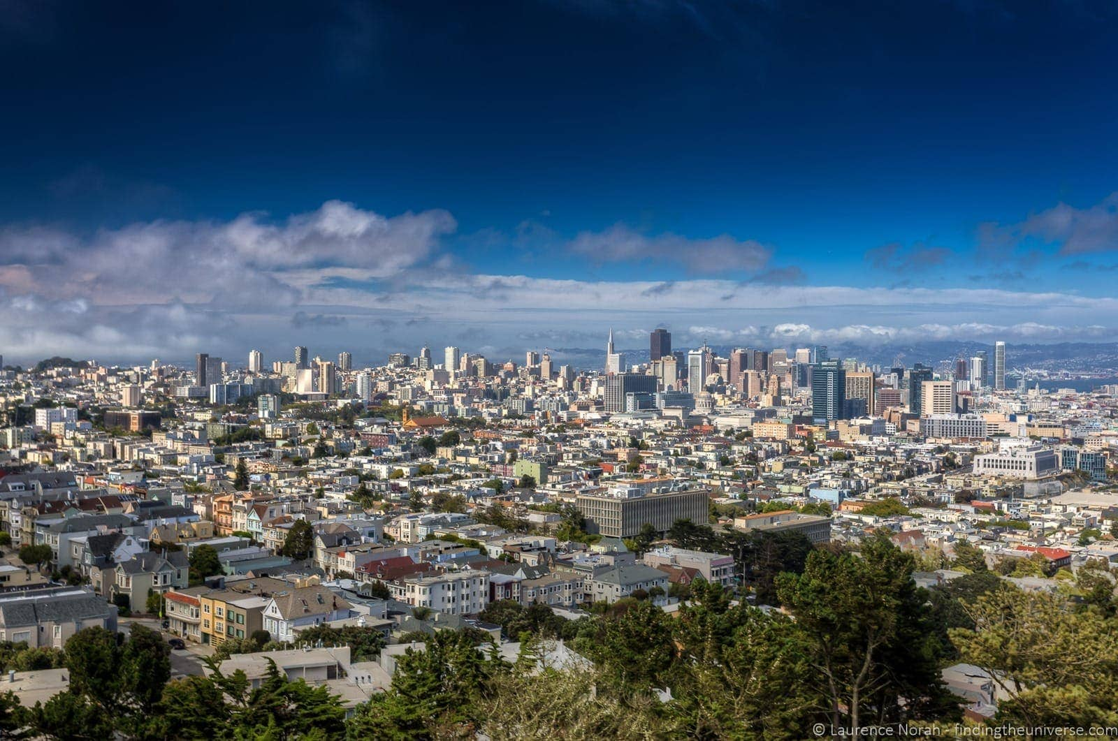 San Francisco view from Corona Heights