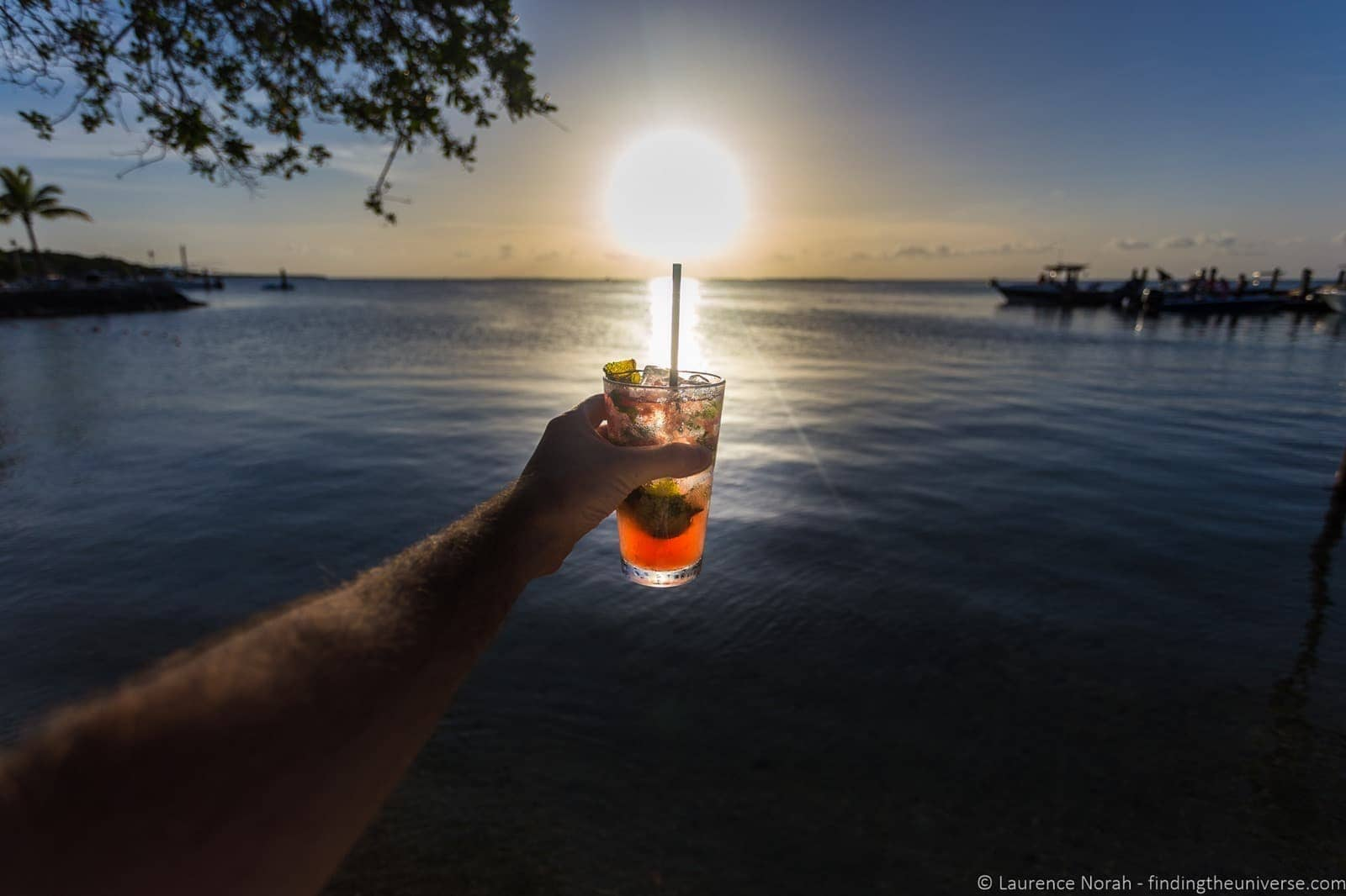 Sunset cocktail florida keys