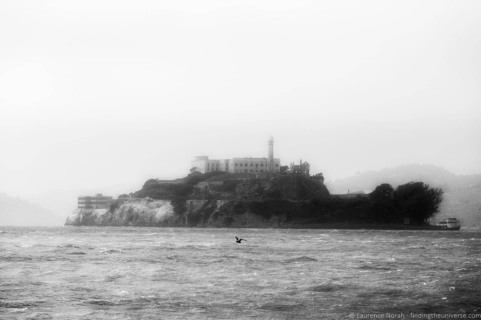 View of Alcatraz from Pier 39 San Francisco