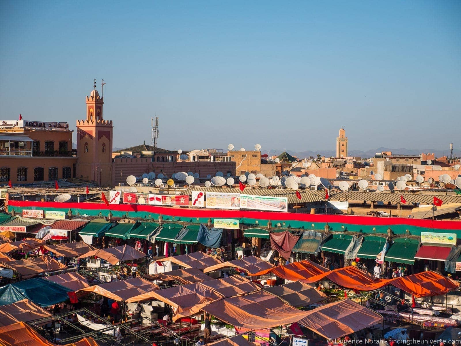 Jamaa el Fna Square Marrakech from above 2