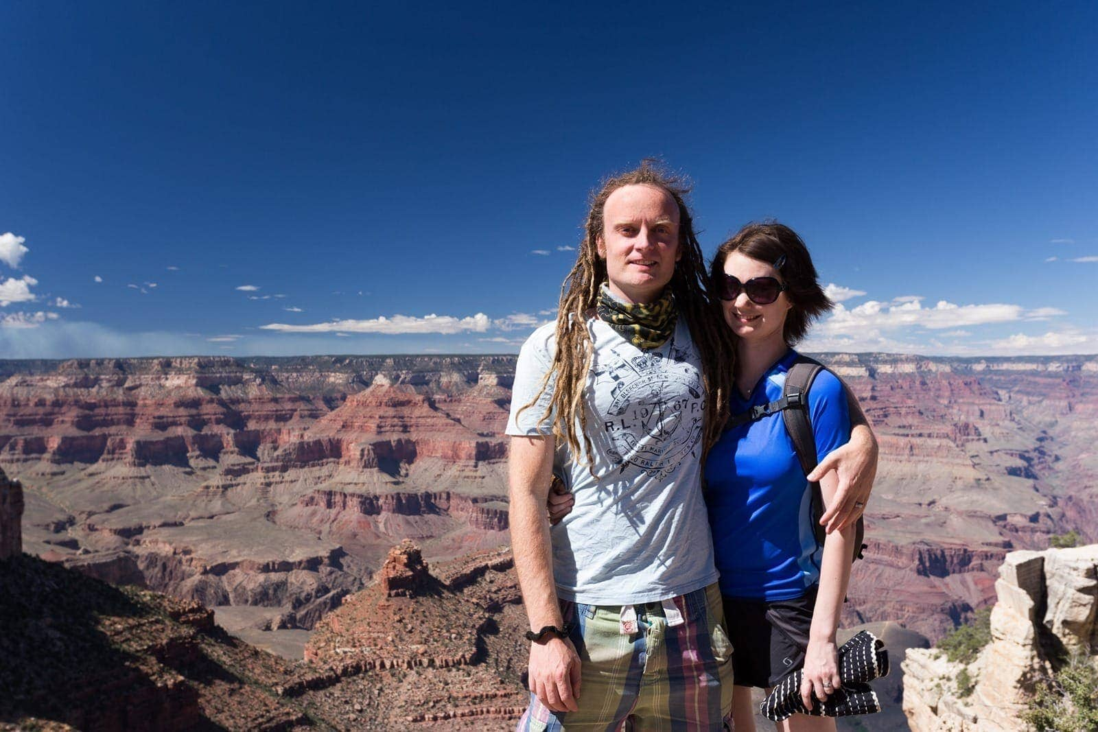 Laurence and Jess at Grand Canyon
