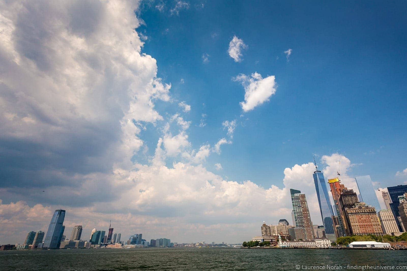Manhattan from the sea walks of new york