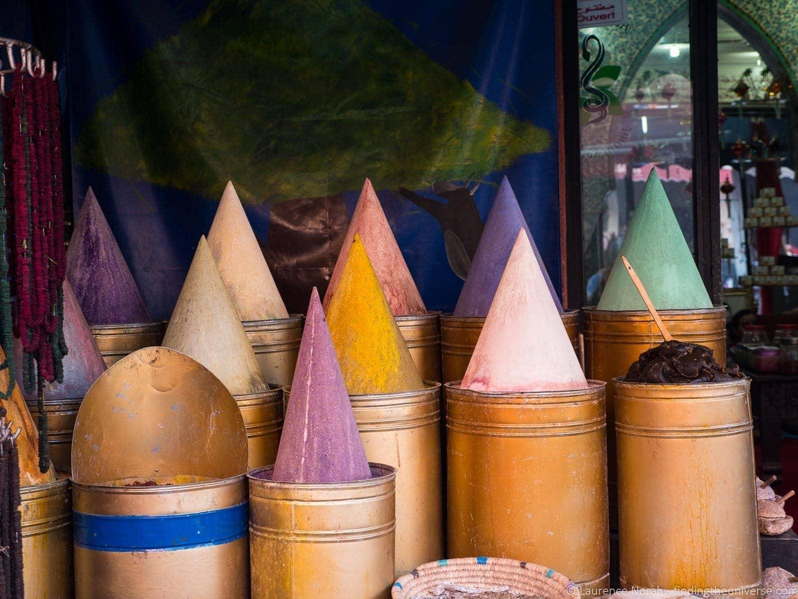 Pigment piles marrakesh