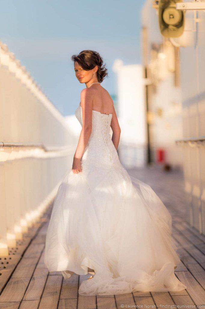 Bride depth of field